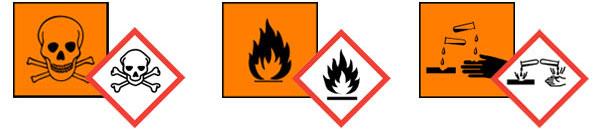 Gefahrstoffschilder