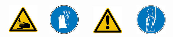 Sicherheitskennzeichnung nach DIN 4844